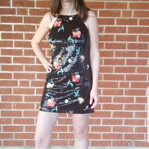 Forever 21 Black Sequin Mini Club Dress